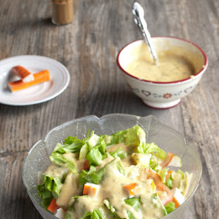 Surimi Salad with Curry Mayo Dressing Recipe