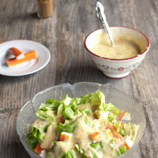 Surimi Salad with Curry Mayo Dressing.