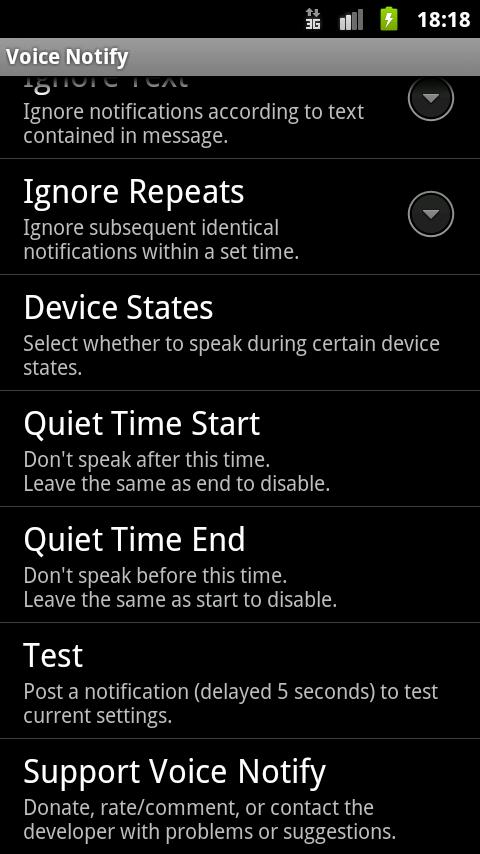 Voice Notify - screenshot