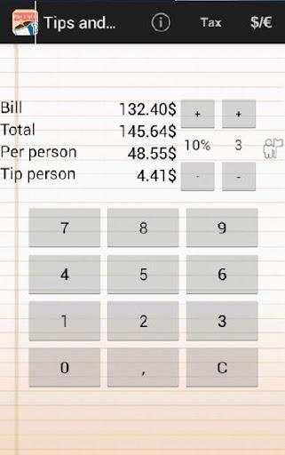 Tips Split calculator