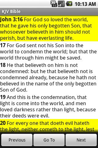 KJV Bible- screenshot