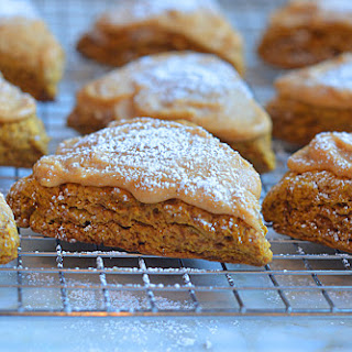 Pumpkin Scones with Spiced Pumpkin Glaze.