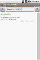 Screenshot of English Pronunciations Package