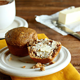 Healthy Banana Oat Muffins.