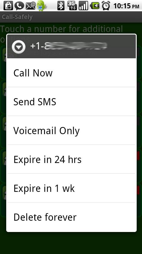 Call-Safely FREE- screenshot