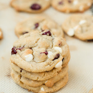 Soft White Chocolate Cranberry Cookies.
