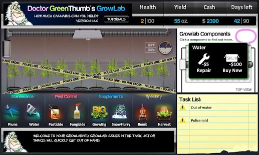 Dr. Greenthumb's Growlab - screenshot thumbnail
