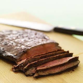 Soy-Glazed Flank Steak.