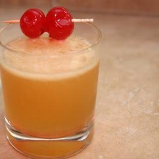 Bourbon Sour Cocktail.