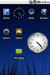 Tiny Gold Clock Widget - screenshot thumbnail