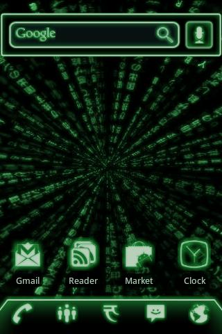 ADW Theme Green Glow Code Pro- screenshot