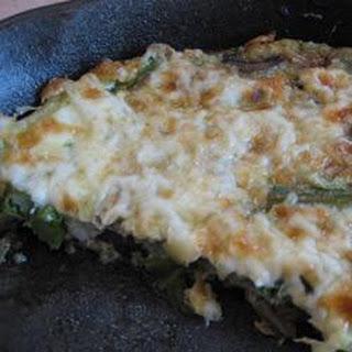 Easy Asparagus and Mushroom Frittata.