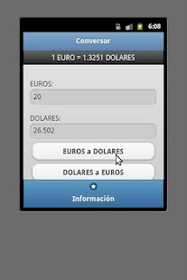 Conversor Euro Dolar- screenshot thumbnail
