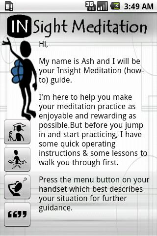 Guided Insight Meditation - screenshot