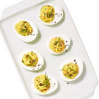 Gravlax Deviled Eggs.