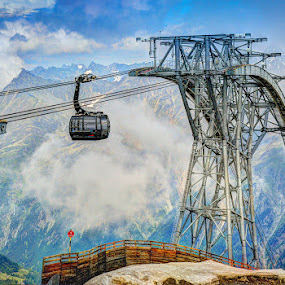 Alps by Mihai Popa - Buildings & Architecture Bridges & Suspended Structures ( cable, summer, travel, alps,  )