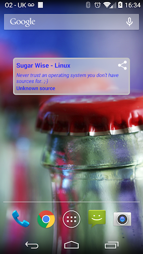 Sugar Wise Fortune Widget