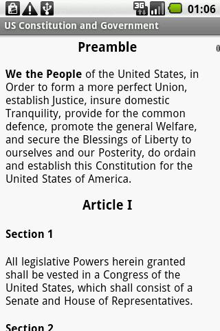 US Constitution and Government- screenshot