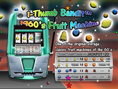 Thumb Bandit 1960 Slot Machine