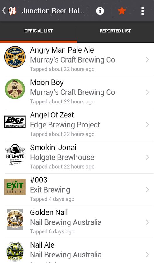 Now Tapped - screenshot