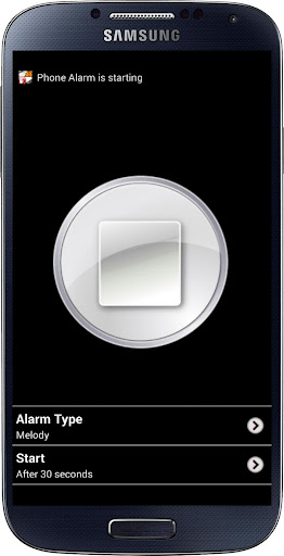 Phone Alarm When Touched