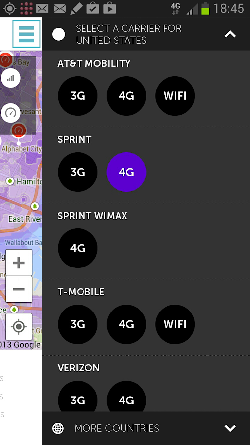 4G map & speedtest - screenshot