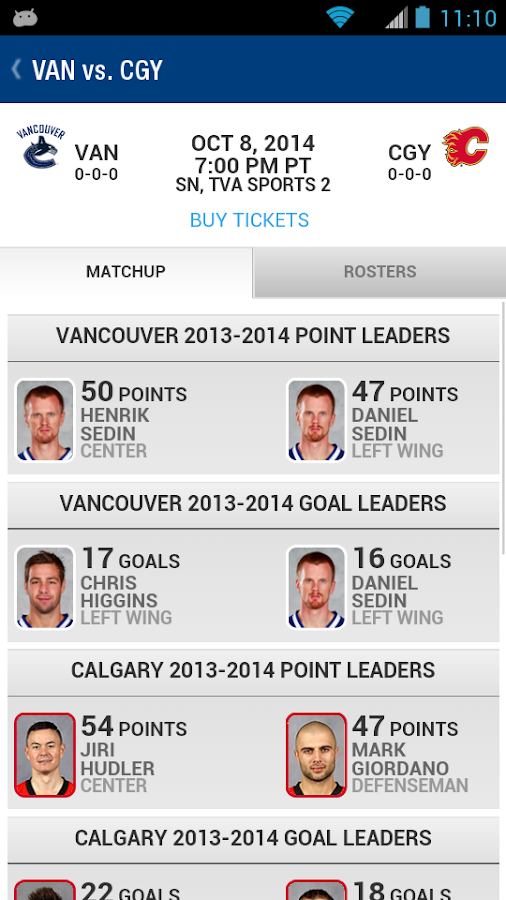 Vancouver Canucks- screenshot
