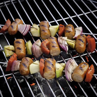 CheddarWurst® and Apple Kabob