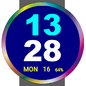 Huge Digital Watch Face