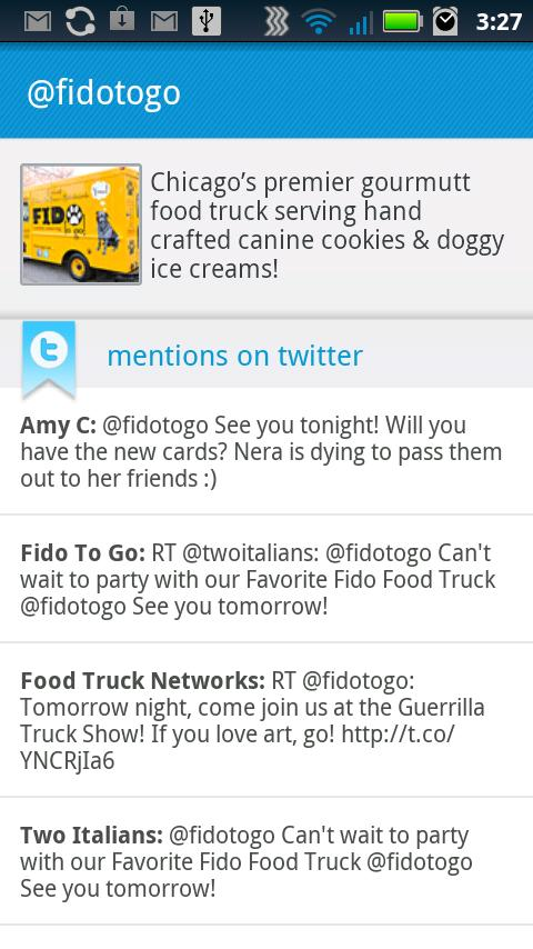 Food Trucks - Map and Twitter- screenshot