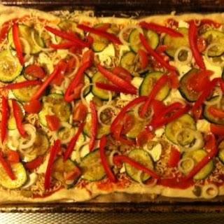 Heerlijke Zomerse Plaatpizza Met Een Boel Lekkers