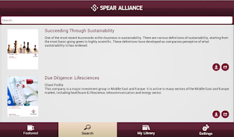 Screenshot of Spear Alliance Insights