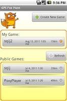 Screenshot of GPS Fox Hunt