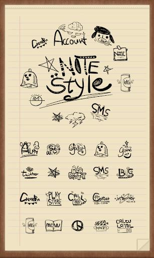 Notes style Icon theme