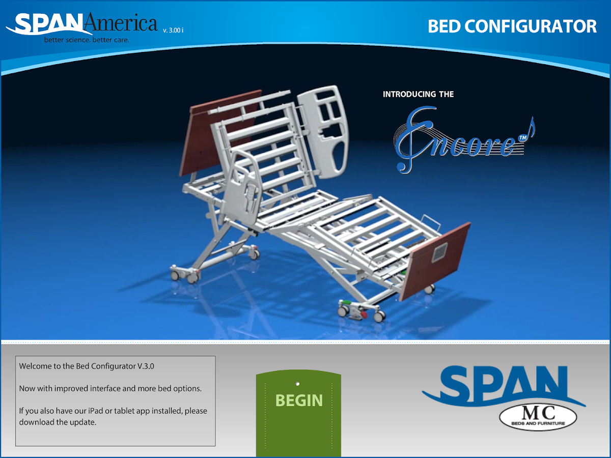 Span Bed Configurator- screenshot