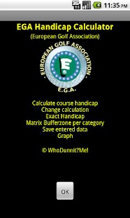 EGA Handicap Calculator FREE- screenshot thumbnail