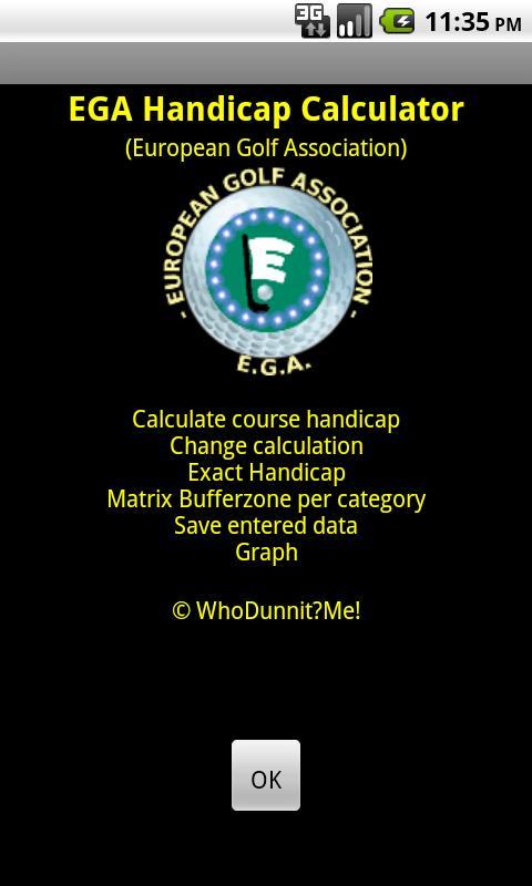 EGA Handicap Calculator FREE- screenshot