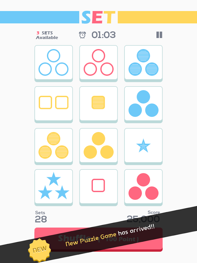 Set of Threes : New Brain Game - screenshot