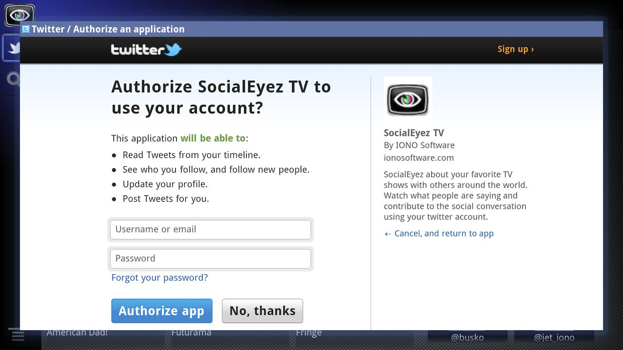 SocialEyez TV - screenshot