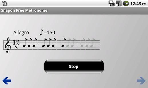 Snapoh Free Metronome- screenshot thumbnail