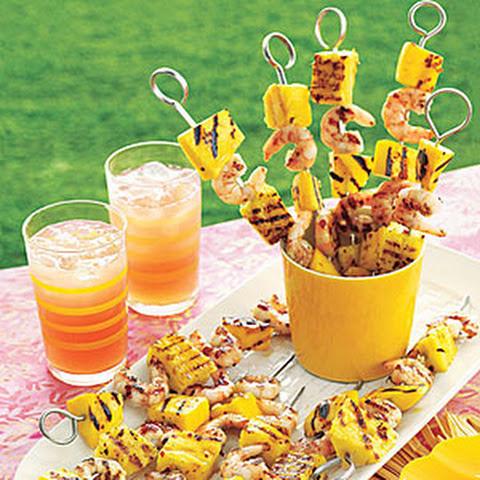Grilled Chicken Skewers with Mango Salsa