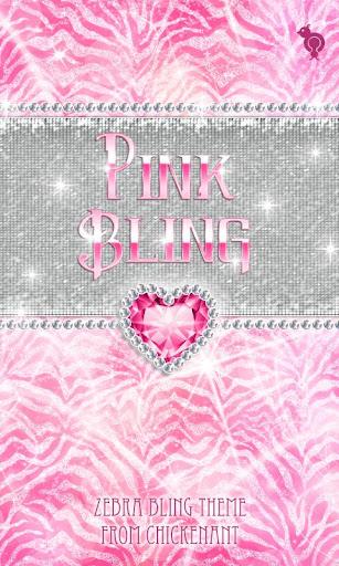 Bling Pink Zebra Theme GO SMS