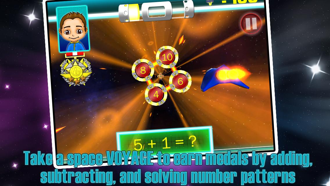 SPACE VOYAGER K,1,2 MATH FREE - screenshot