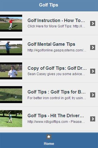 Golf Tips Video