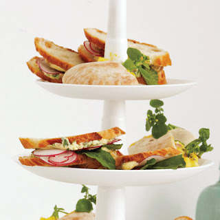 Shaved-Radish Sandwiches with Herb Butter
