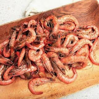 Brazilian-style Peel And Eat Shrimp with Fried Garlic (Camarao ao Alho).