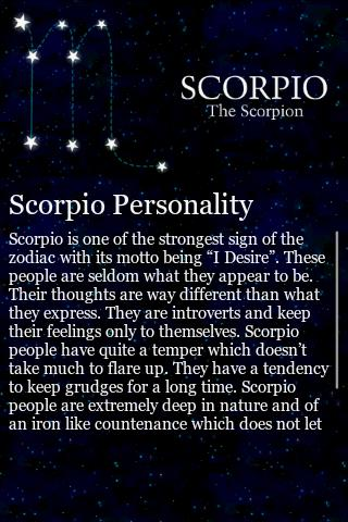 Scorpio Traits - screenshot