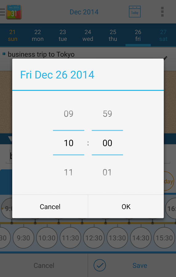 Easy Schedule - quick calendar- screenshot