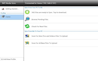 Screenshot of Wifi Media Sync:Tablet Edition
