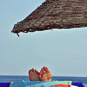 summer by Baha mustafa BARAN - Landscapes Travel ( chair, foot, d90, umrella, towel, sea, nikon, landscape, baha, sun )